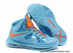 Blue Orange Style 541100 400 Nike Lebron X (10) Sale