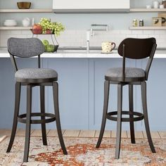 Red Barrel Studio Jimenes Swivel Bar & Counter Stool | Wayfair