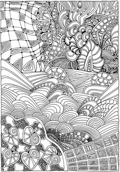Dover Creative Haven Entangled Coloring Page 6