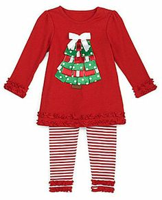 d9ae7b5cca64 Starting Out 12-24 Months Christmas Tree Holiday Top & Leggings Set on  shopstyle