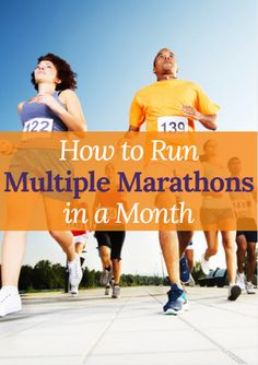 Want to run multiple marathons in a month? We've got you covered. How to Run Multiple Marathons in a Month http://www.active.com/running/articles/how-to-run-multiple-marathons-in-a-month?cmp=17N-PB33-S14-T1-D1--1096
