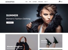 Acoustics is a modern highly customizable WooCommerce WordPress theme for online stores, e-commerce, fashion and lifestyle websites, with pixel perfect design Lifestyle Websites, Graphic Design Tools, Right To Privacy, Ecommerce Website Design, Web Design Projects, Web Themes, Premium Wordpress Themes, Women's Summer Fashion
