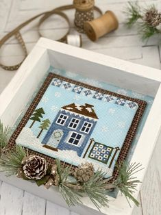 PDF DOWNLOAD Tree Farm Ornament digital counted cross stitch patterns by Living on the Rainbow at thecottageneedle.com