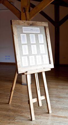 Oak Framed Wedding Seating Plan