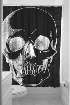 Sourpuss Skull Shower Curtain