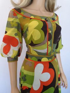 Vintage 1960's EMILIO PUCCI Op Art by ElectricLadyland1 on Etsy