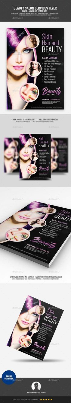 a4, ad, advertisement, beautiful, beauty, body, body care, brown, comfort, flyer, flyer design, fresh, hair, hair salon flyer, handout, health, health and beauty, massage, natural, pamper, pink, promotion, relax, salon, smooth, spa, template, wellness, woman Hair and Makeup Center Flyer Design Template   Boost your company's sales and attract new customers! This Hair and Makeup Center Flyer Design Template have been developed to boost your Ultimate Marketing strategy and brand/product…