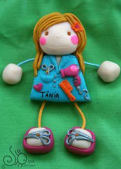 Mundo das Bonecas * Joana da Cunha: Boneca Cabeleireira com secador de cabelo!