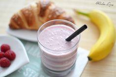smoothie # malinowo-bananowe smoothie # maliny # banany