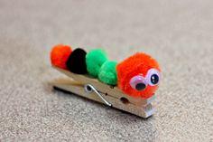 Keepin' 2 Boys Busy: Clothespin Caterpillar
