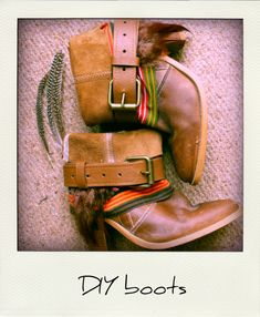 18 Crafty DIY Boot Makeovers. feathers. waterproof?. fabric