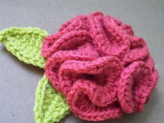 Would you like Yarn With That?: Ruffle Rosie Brooch--FREE pattern!