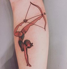 Bow and arrow tattoo designs are becoming truly fashionable, especially among women. Bow tattoos are great because they can come in all shapes, sizes, and