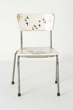Need to find some old chairs to refinish!  Artista Lesson Chair, Bird Flight #anthropologie