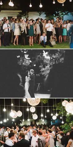 Super casual, awesome, outdoor wedding reception!