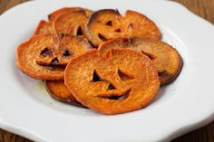 halloween food -- jack-o-lanterns from sweet potatoes halloween food