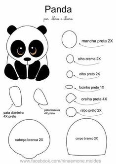 Fotografias no painel de comentár.. Felt Patterns, Applique Patterns, Felt Diy, Felt Crafts, Panda Craft, Animal Templates, Diy Y Manualidades, Panda Party, Felt Decorations