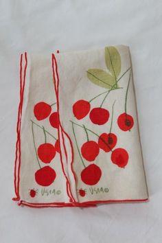 Vera vintage printed table linens.