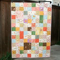 Far Far Away III patchwork quilt by QuiltsByEmily, via Flickr
