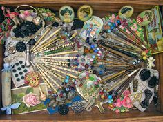 Antique Lace Bobbins by Hitty Evie, via Flickr