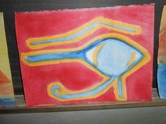 Waldorf ~ 5th grade ~ Ancient Egypt ~ Eye of Horus ~ watercolor painting