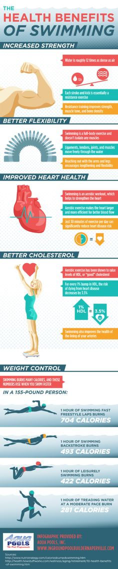 Swimming can help you lose weight, boost your heart health, increase flexibility, improve your cholesterol, and increase your strength! Click over to this infographic from a pool builder in Orland...