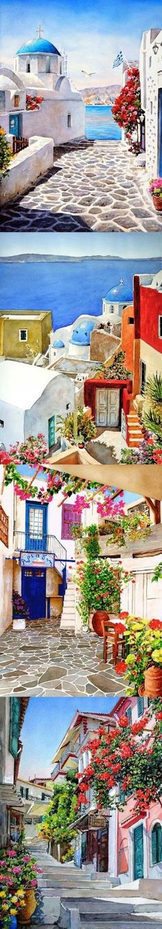 Pantelis Zografos, กรีซจิตรกรทำงาน: มุมของกรีซ .. by lupe I need to go to there