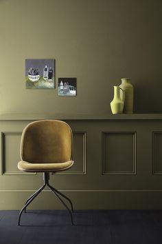 Little Greene Paint new colourcard 2017 Little Greene Paint, Peinture Little Greene, Best Interior Paint, Interior Walls, Interior Design, Olive Green Paints, Living Room Paint, Elle Decor, Color Trends