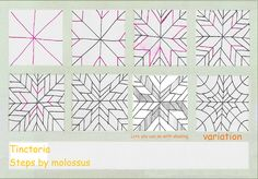 Tinctoria-tangle pattern by molossus, who says Life Imitates Doodles, via Flickr