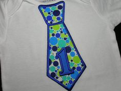 BOYS Blue Green Polka Dots First Birthday by PickleBeanBoutique, $17.99 buy shirt make a cake to match?