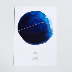 Deep blue mixed media prints in A3. Each zodiac has their constellations, zodiac symbol and dates in roman numerals. These popular designs are prin...