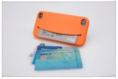 great idea for an iPhone case, holds credit cards, cash, earphones, etc.