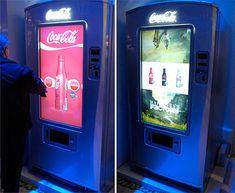 Image result for full screen vending machine