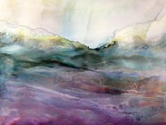 Abstract alcohol ink painting by Linda Crocco #lindacroccostudio
