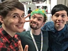 Dan and Phil with Jacksepticeye