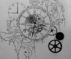 timepiece tattoos - Google Search
