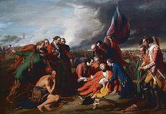 Esquisse représentant la mort du Major-Generale James Wolfe sur les Plaines d'Abraham en 1759 près du Musée du Quebec