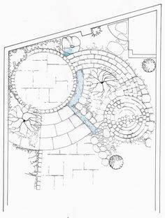 Varied Materials And Curves Of Garden Paths And Patios Add