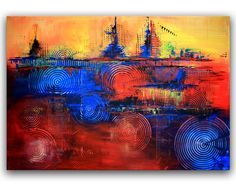 4 GEWINNT - Abstrakte Kunst Malerei - Leinwandbilder und Original Wandbilder kaufen #abstraktekunst #abstractpainting #abstraktemalerei #acrylbilder #gemälde #abstraktebilder