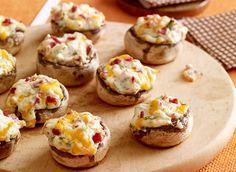 Bacon n cheese stuffed mushrooms