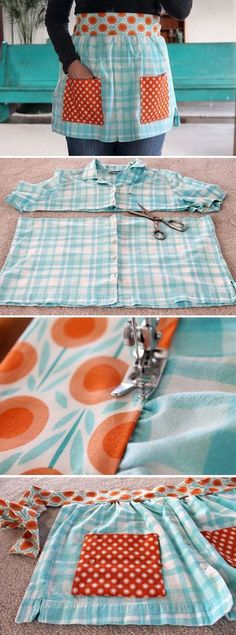 Make Aprons From Old Shirts