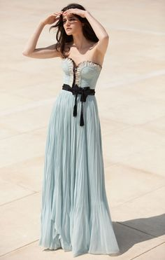 pretty pastel blue dress