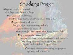 Smudging prayer