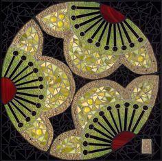 Bodhisattva, glass and ceramic mosaic