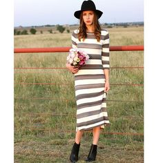 Sabilene Striped Midi Dress #Anthropologie #MyAnthroPhoto