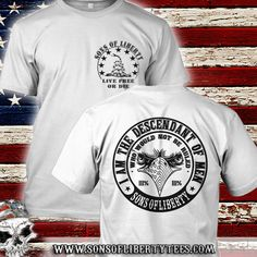 I am the descendant of men, who would not be ruled. T-Shirt.  #Ar15 #Colddeadhands #Conservative #Defendthesecond #Donttreadonme #Gunrights #Guns #Patriot #Righttobeararms #Sonsoflibertytees