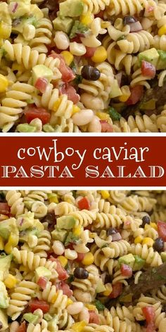 Easy Pasta Salad Recipe, Best Pasta Salad, Pasta Salad Italian, Simple Pasta Salad, Avocado Pasta Salads, Vegetarian Pasta Salad, Spinach Salads, Corn Salad Recipes, Taco Salads