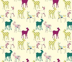 Great Fabric Site....(deer fabric by marlene_pixley on Spoonflower - custom fabric)