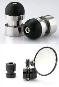 GT CNC Bar End Mirror Sliders | GuzziTech.com