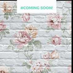 This gorgeous vintage floral design on white brick brings together modern and vintage styles beautifully! #floralwallpaper #brickwallpaper #vintage. Sign up for product details Unique Wallpaper, Textured Wallpaper, Custom Wallpaper, Designer Wallpaper, White Brick Wallpaper, Wallpaper Online, Interior Walls, Vintage Floral, Wall Murals